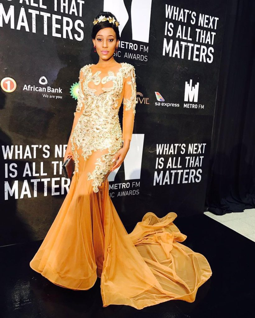 Buhle Samuels at the Metro FM Awards