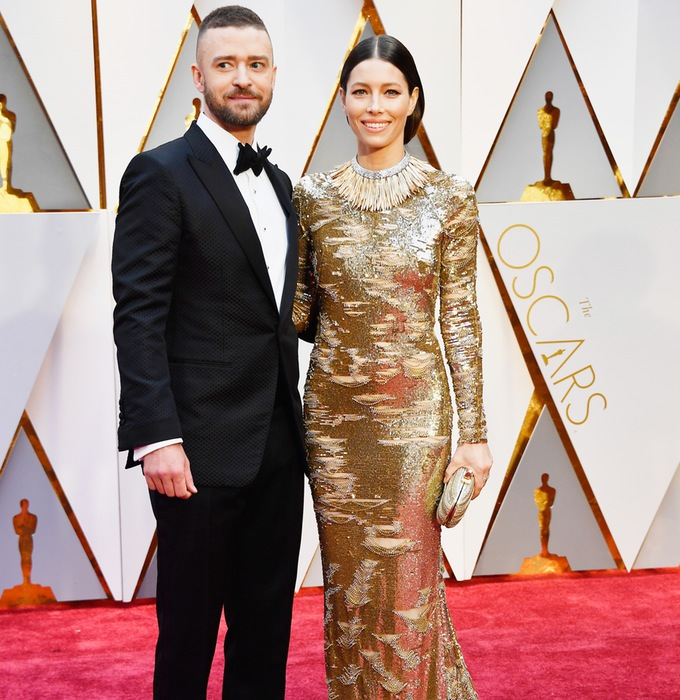 entertainment celebrity justin timberlake jessica biel oscars performance