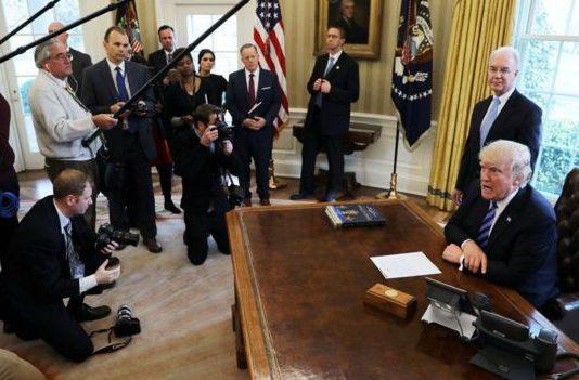 Trump-presser