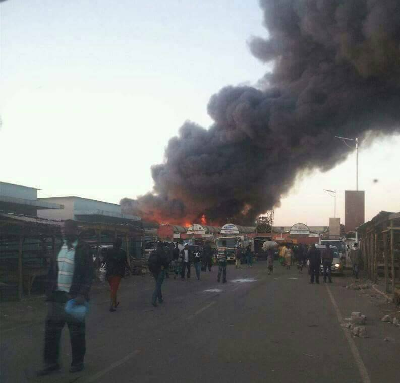 Lusaka Co Zm: Lusaka City Market Fire 7